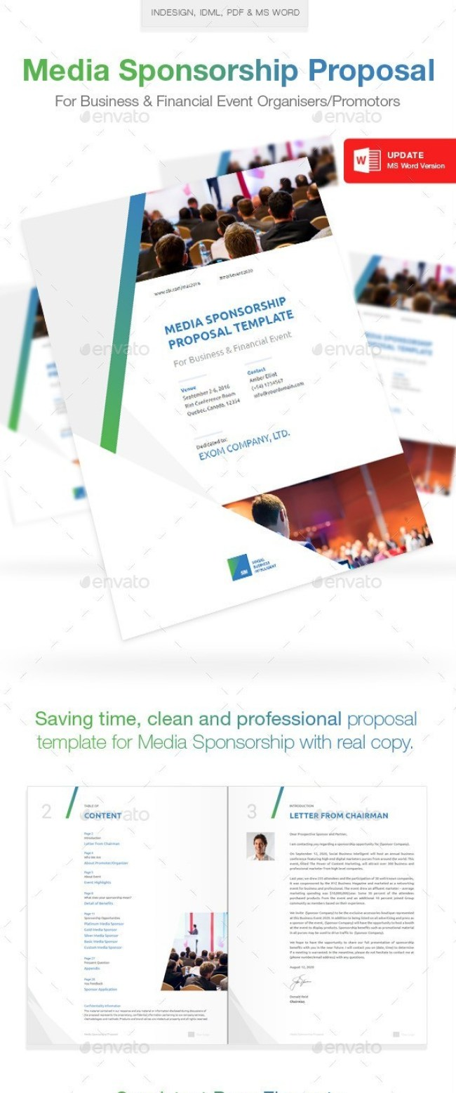 Clean Media Sponsorship Proposal Template