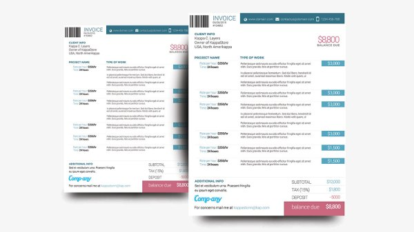 38 Invoice Templates Psd Docx Indd Free Download Psdtemplatesblog