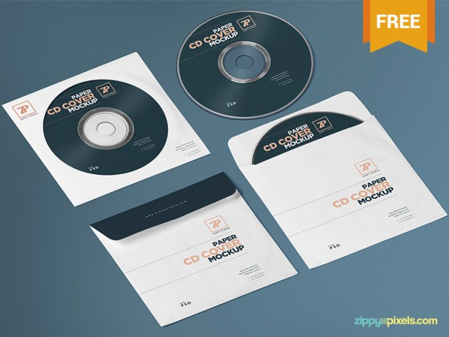 Free CD Cover Mockup