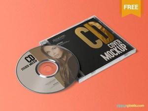 Free CD Jewel Case and Label Mockup