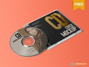 Free CD Jewel Case and Label Mockup