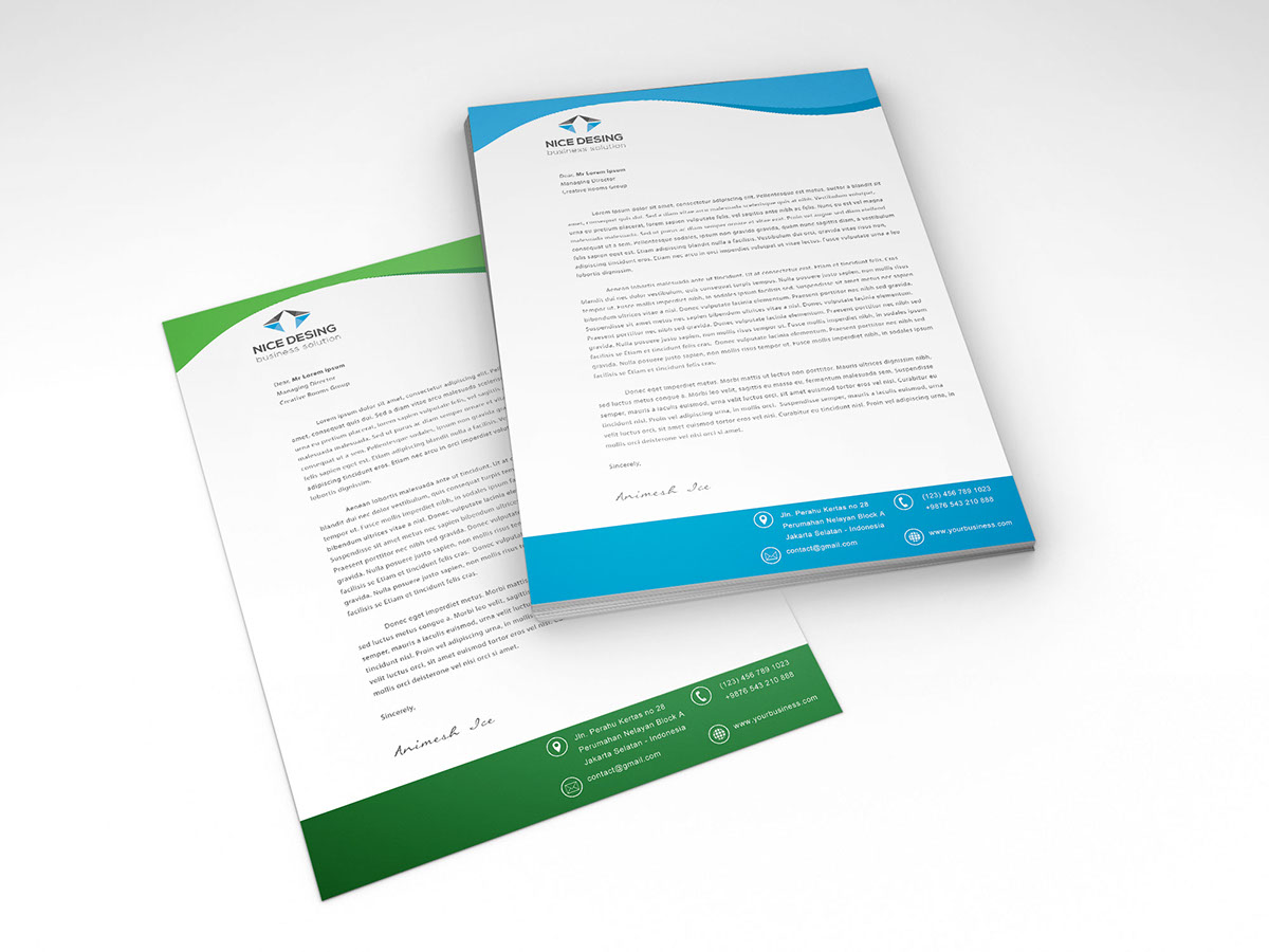 Free Corporate Letterhead Template PSD  Free Microsoft Word Letterhead Templates