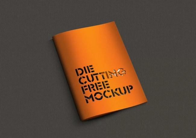 Free Die Cut Brochure Mockup