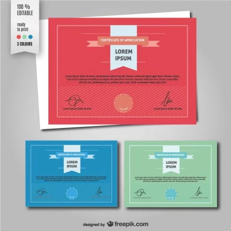 Free Diploma Vector Template