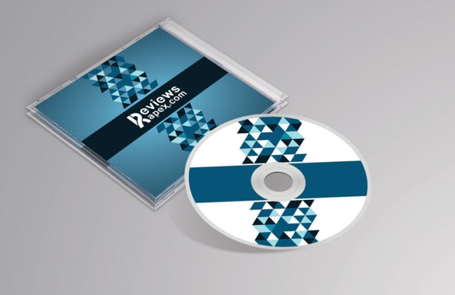 Free Photorealistic CD Cover Mockup