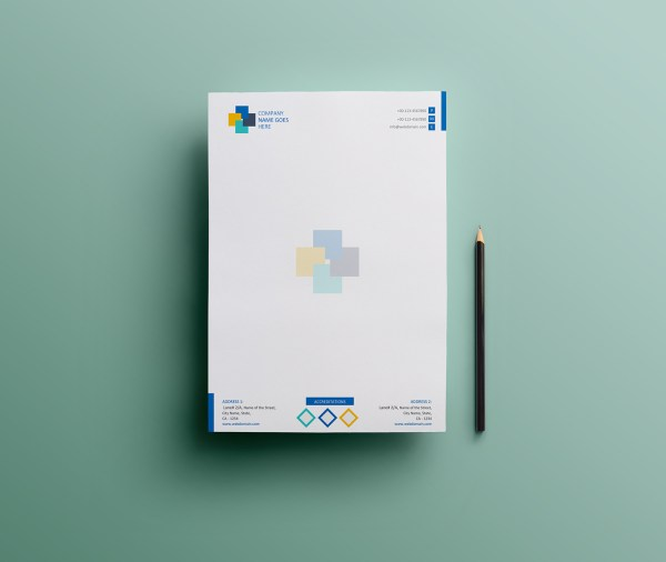Free Simple Letterhead Template Design in MS Word Version