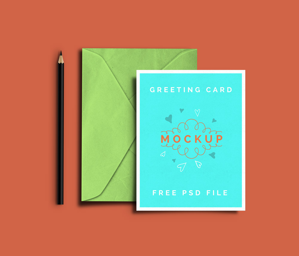 Free Greeting Card PSD Mockups