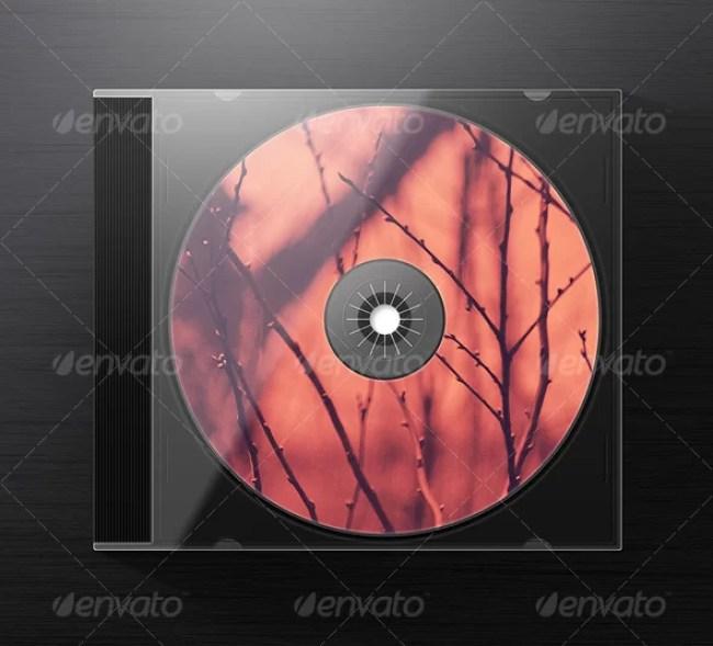 Photorealistic Jewel CD Case Mockup
