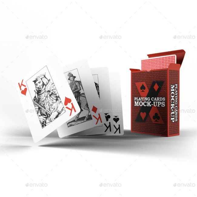 Playing Cards / Card Box Mock-Up