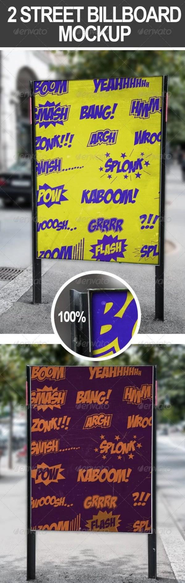 2 Street Billboard Mockups