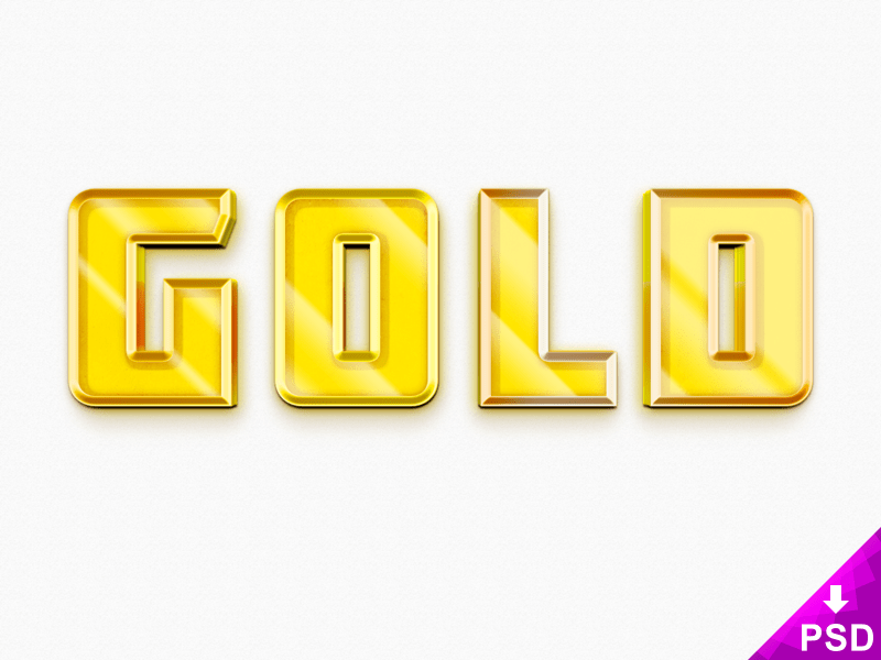 3D Gold Text Style