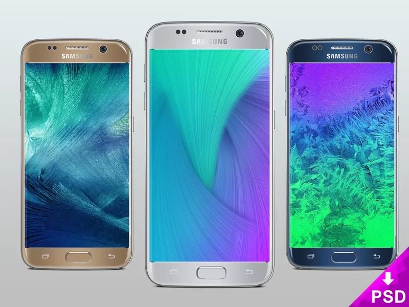Samsung Galaxy S7 Silver Mock-up