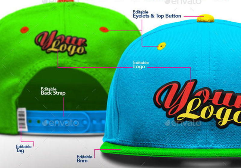 premium hat mockup psd template