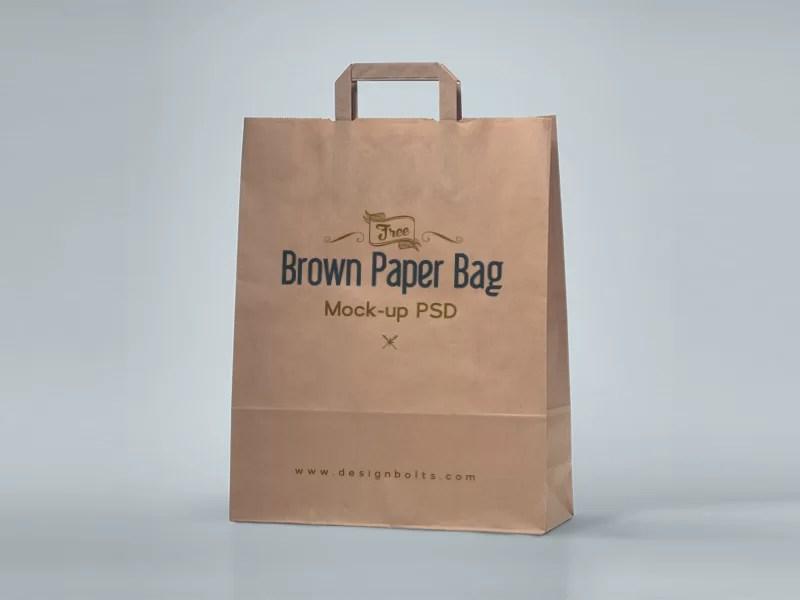 free shopping bag paper bag psd