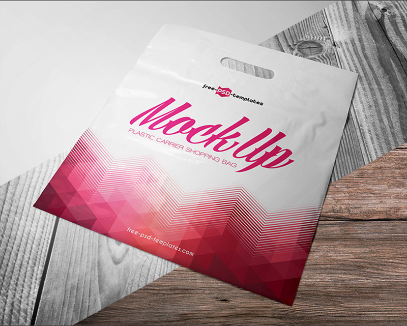 great free plastic shopping bag mockup template