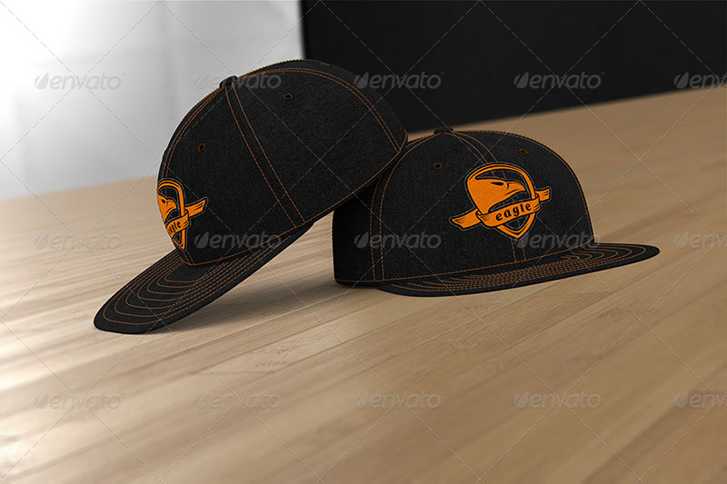 professional snapback mockup hat template