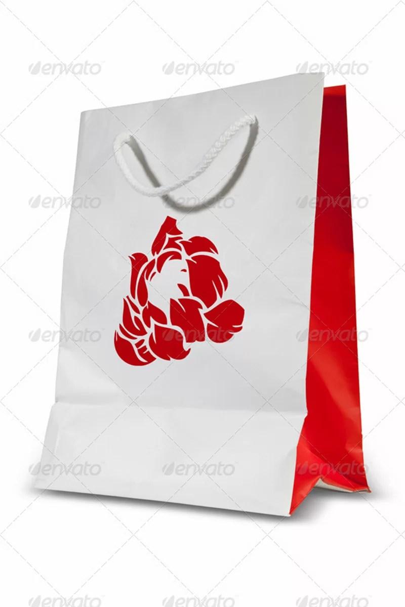 best premium shopping bag template design