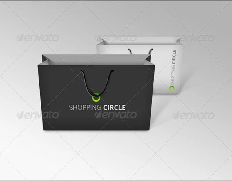 smart shopping bags mockup premium psd