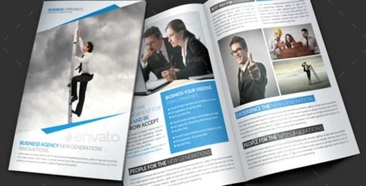 unique corporate brochure template design