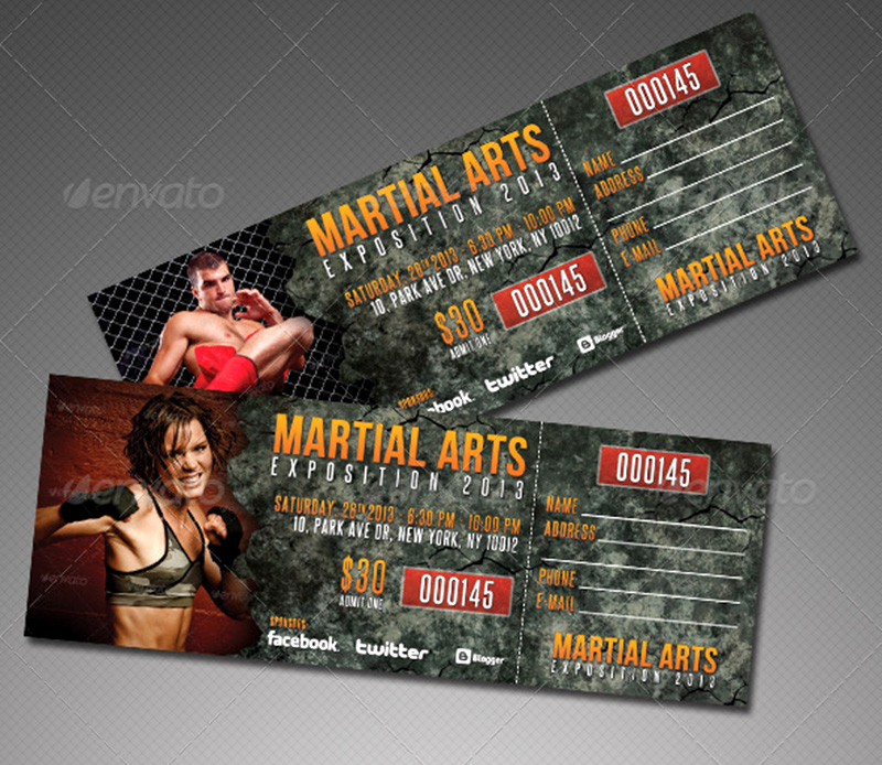 best creative event ticket psd template mockup