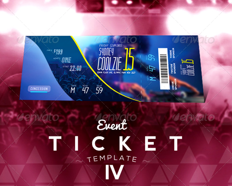 Party Tickets Templates ticket template concert ticket template – How to Design a Ticket for an Event