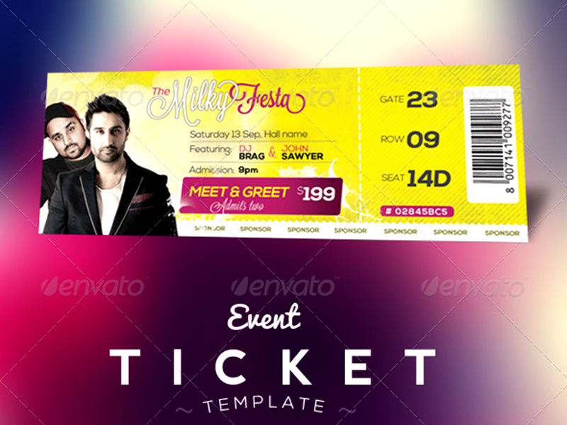 awesome premium event tickets template psd