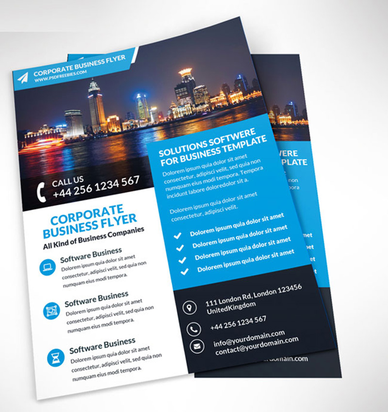 best free business corporate brochure design template mockup