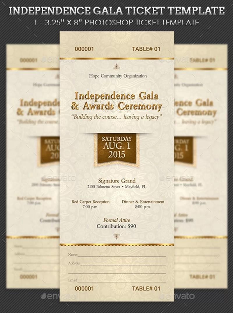 great designed  premium event ticket psd template mockup