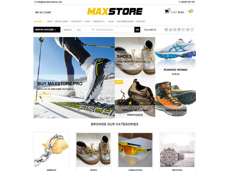 nice and cool free ecommerce wordpress theme