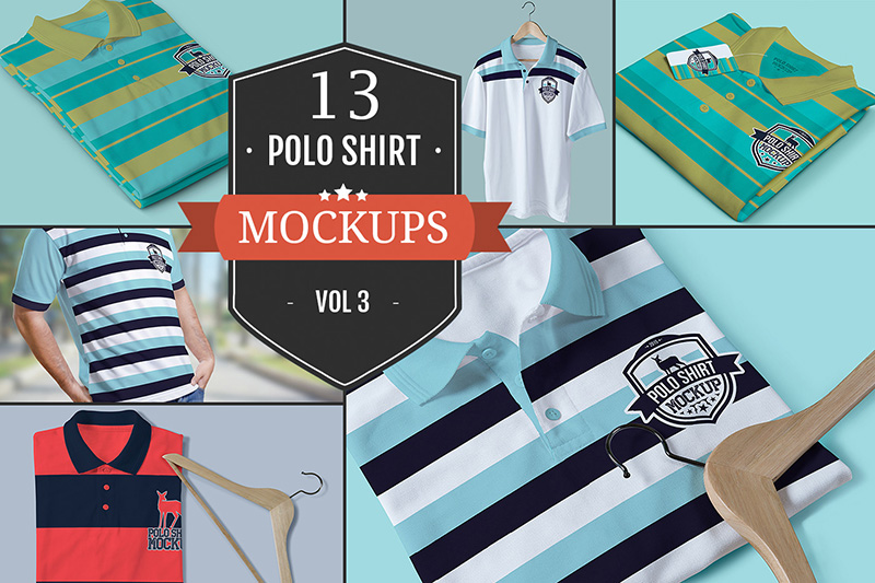 awesome polo t-shirt mockups premium psd graphic