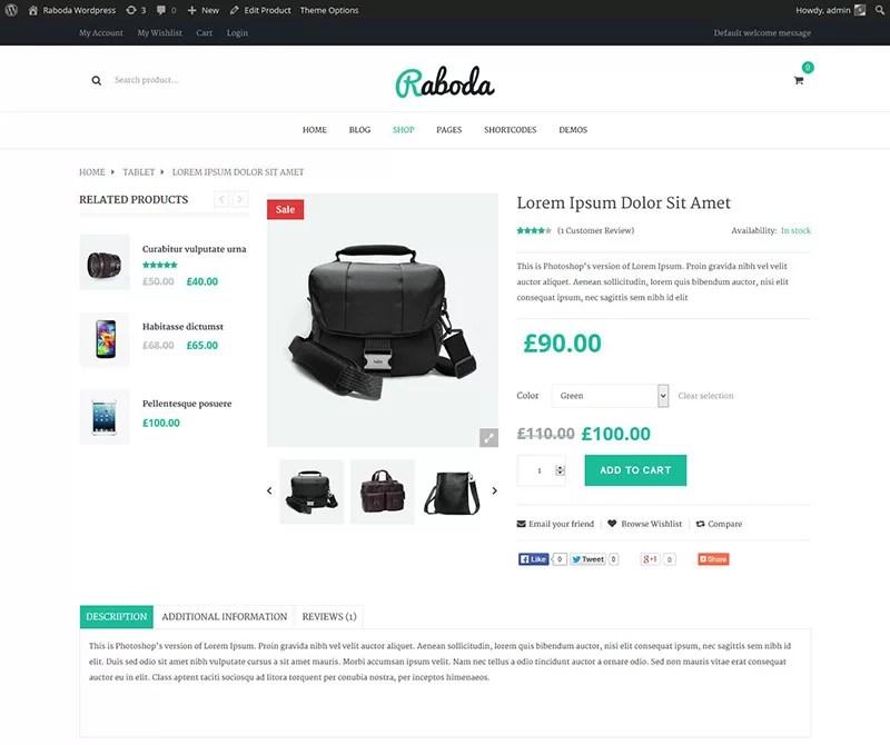 excellent premium wordpress eCommerce or woocommerce theme