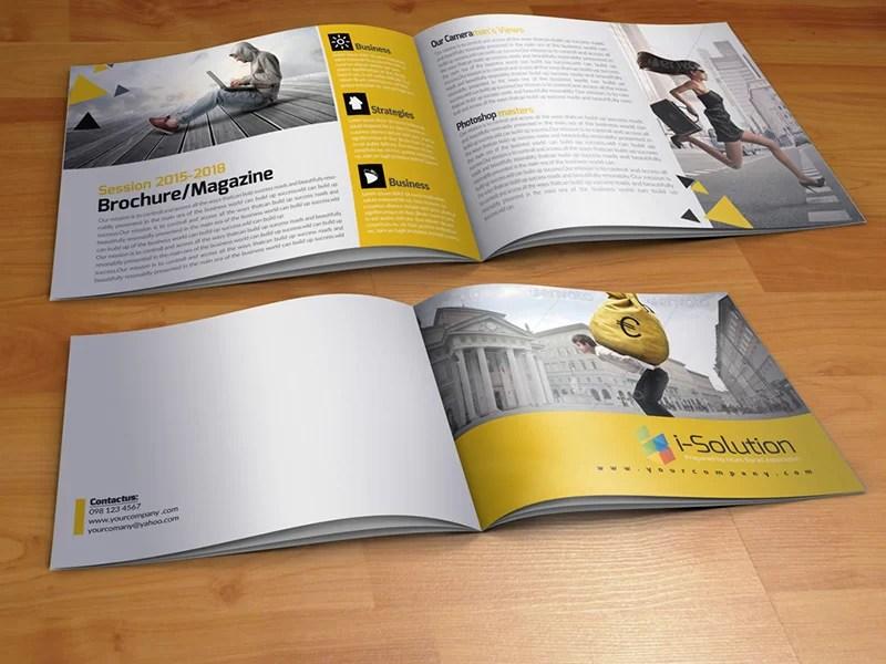 great premium square business flyer mockup psd bi-fold