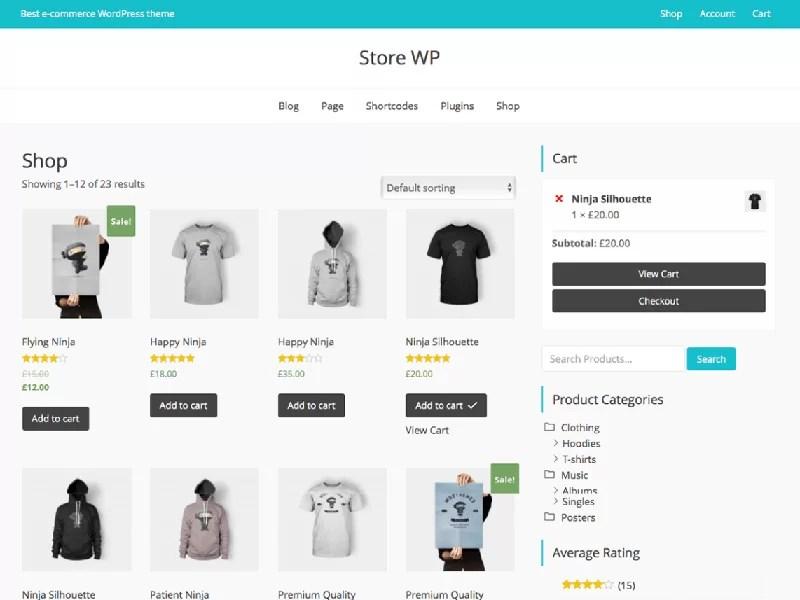 latest free ecommerce wordpress themes