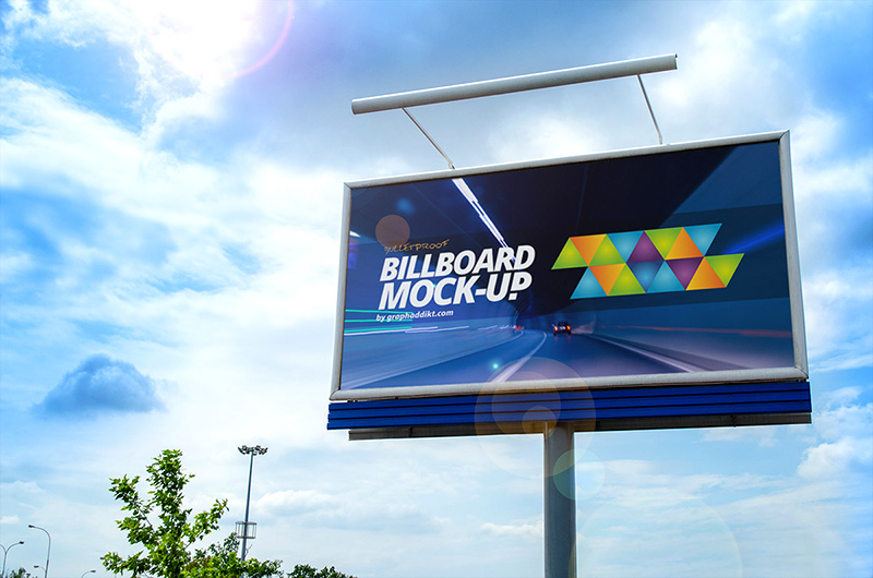 unique outdoor advertising billboard mockups psd for free