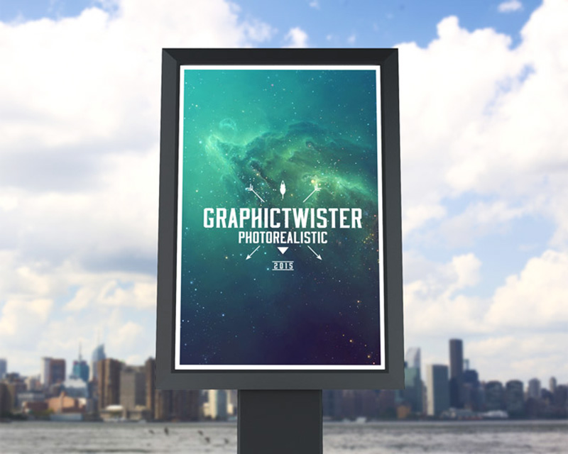 free outdoor advertising roadside billboard mockups psd