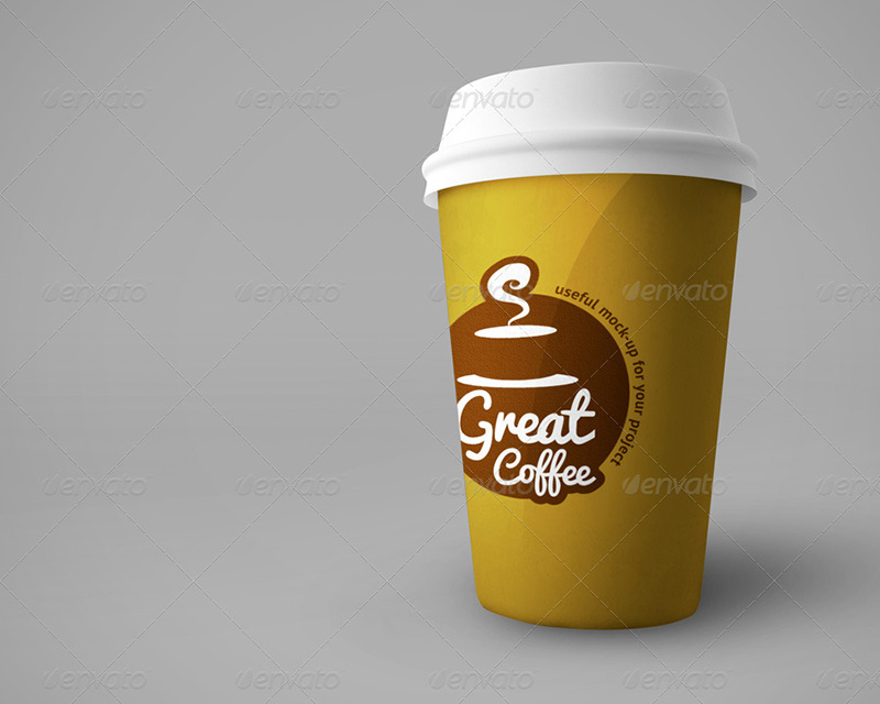 great premium coffee cup mockup template