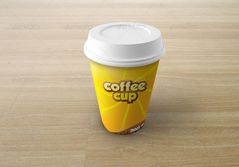unique premium coffee cup mockup