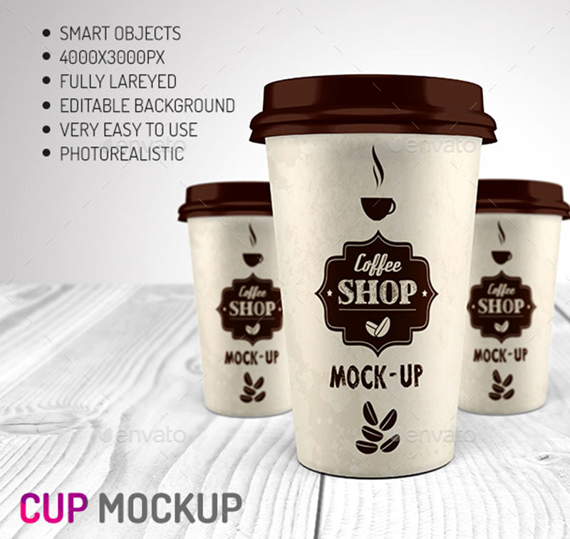 unique premium coffee cup mockup template