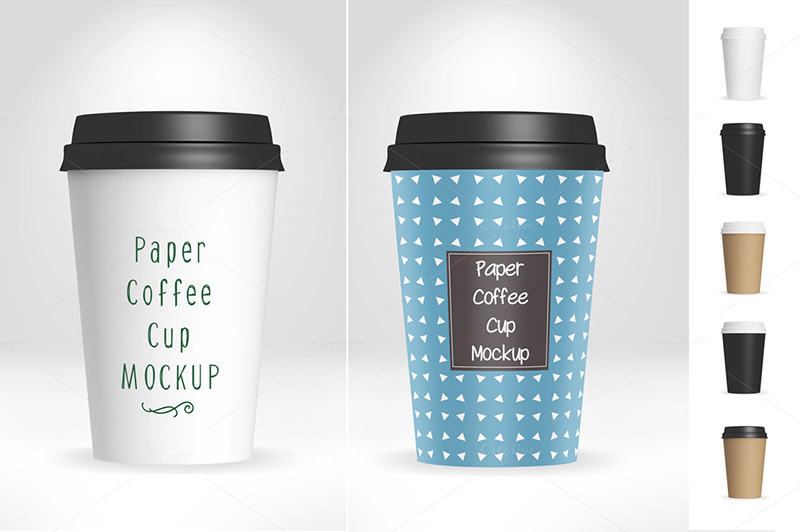 cool premium coffee cup mockup psd