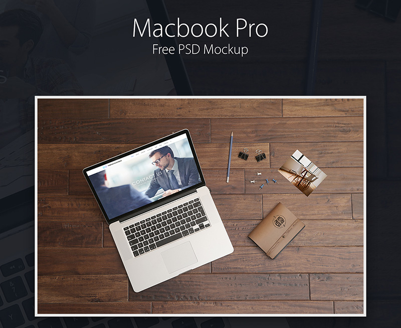 awesome MacBook Pro Mockup in PSD