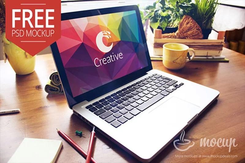 latest MacBook Pro Mockup in PSD