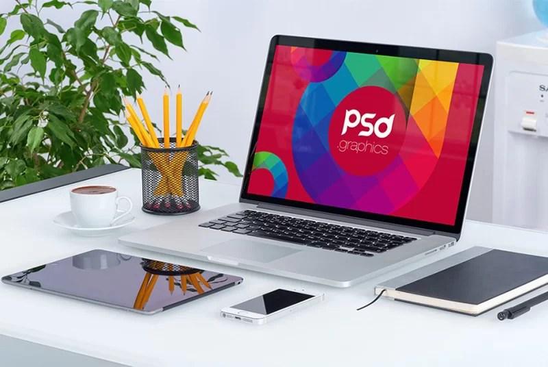 nicest MacBook Pro Mockup in PSD