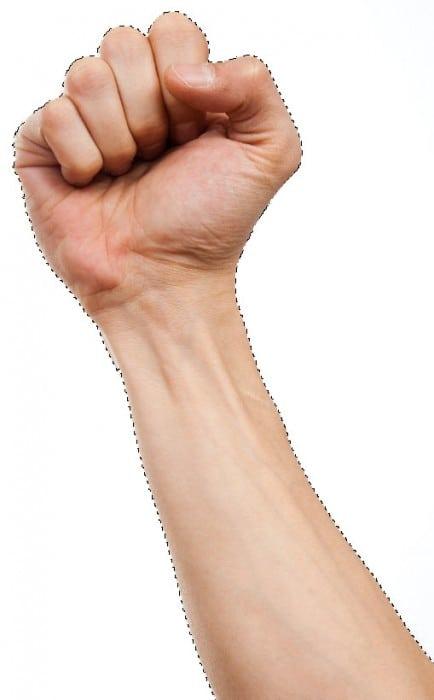 1 sel 434x700 Crie um braço preso com Efeito mancha de sangue no Photoshop