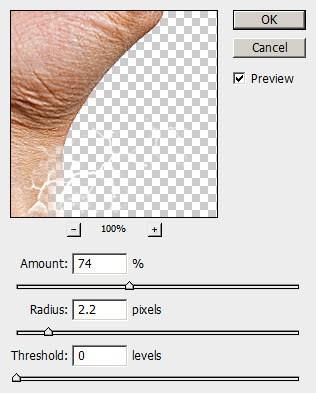 6 unshaprn Criar um braço preso com Efeito mancha de sangue no Photoshop