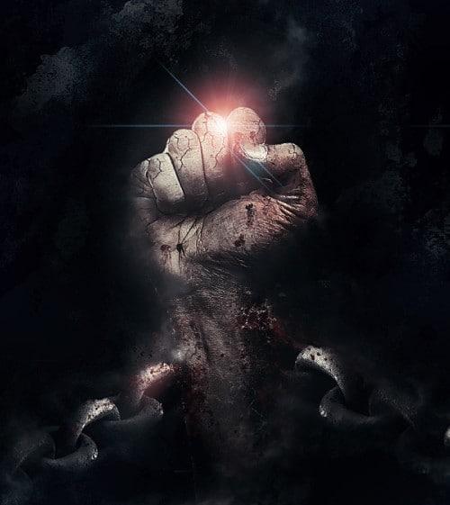 punho acorrentado achatar 500x561 Crie um braço preso com Efeito mancha de sangue no Photoshop