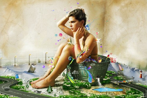 Gaia by archanN 500x333 19 Highly Creative Photo Manipulation Featuring Human and Nature