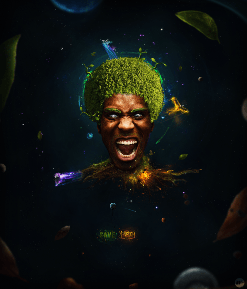 nature  s scream by azdup d41agg1 500x583 19 Highly Creative Photo Manipulation Featuring Human and Nature
