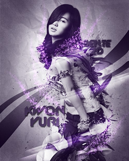 Kwon Yuri in Purple by bente20 500x624 Imagination Unleashed: Best of PSD Vault DeviantART Group – Vol. 28
