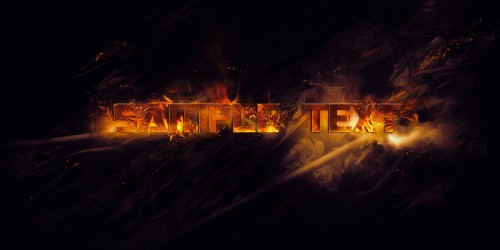 burning text sparkles flatten 500x250 Create Burning Typography with Sparkles Effect in Photoshop