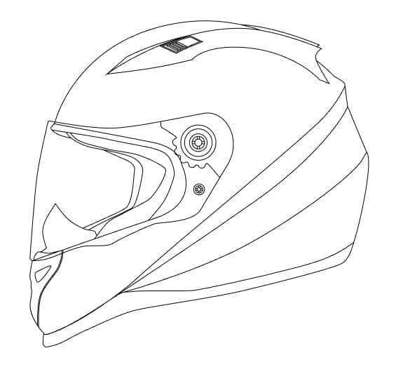 Motocross Template Printable Helmet